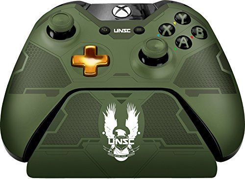 Controller Gear Halo 5 Master Chief Controller Stand Officially Licensed Xbox One Want Additional Inf Xbox One Controller Xbox One Video Game Accessories