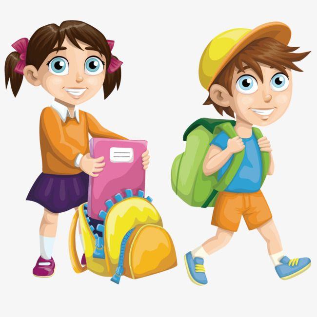 سعيد أطفال المدارس ولد فتاة طفل Png وملف Psd للتحميل مجانا