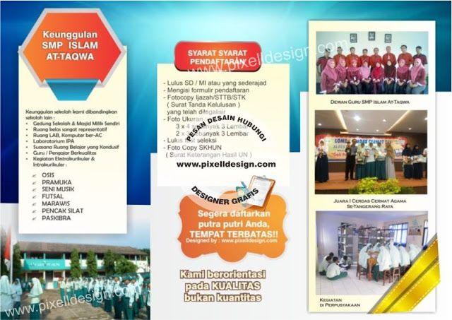 Contoh Desain Brosur Pendaftaran Sekolah At Taqwa 1a Cute766