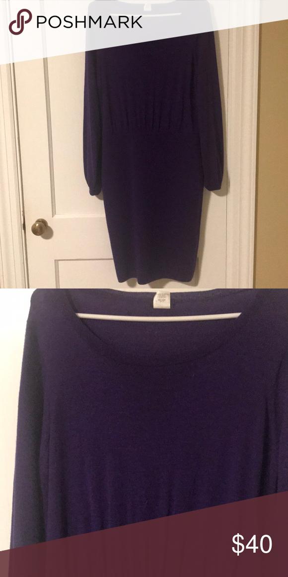 2254ceac881 J. Crew merino sweater dress Purple J.Crew Merino sweater dress size ...