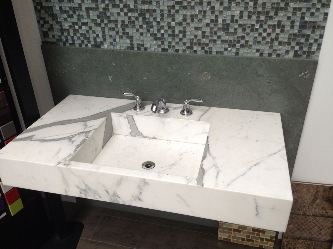 White Carrara sink
