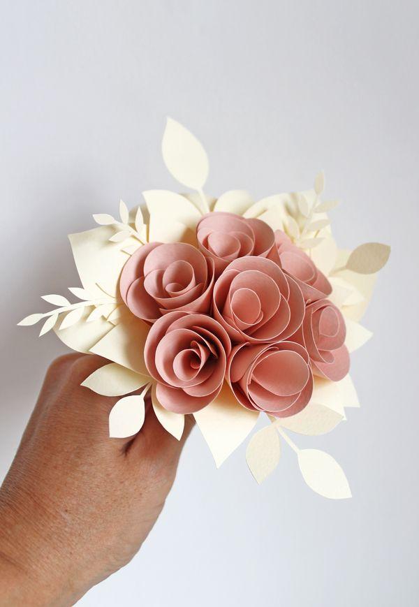 Flori De Hartie Pentru Nunta Si Botez Buchet Mireasa Lumanari