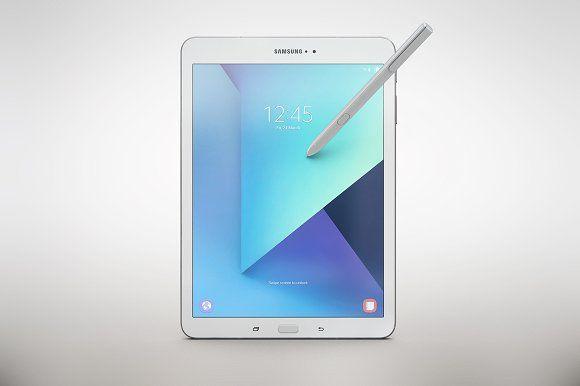 Samsung Galaxy Tab S3 App Mockup By Mockupstore On Creativemarket Samsung Galaxy Tab Samsung Products Samsung