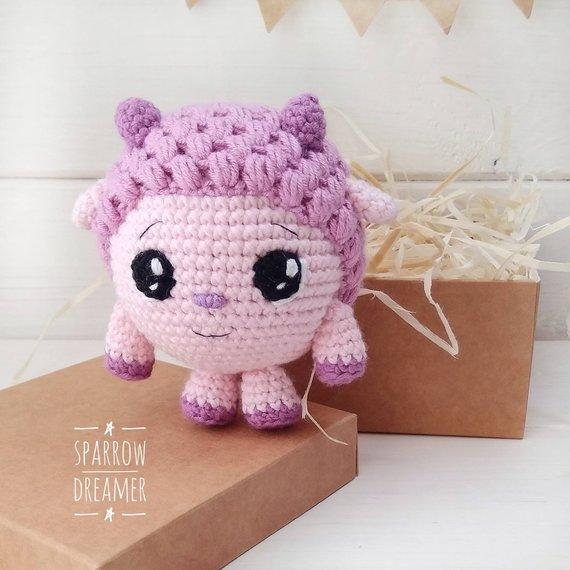 Crocheted lamb Crochet little sheep Amigurumi toys Crochet animals