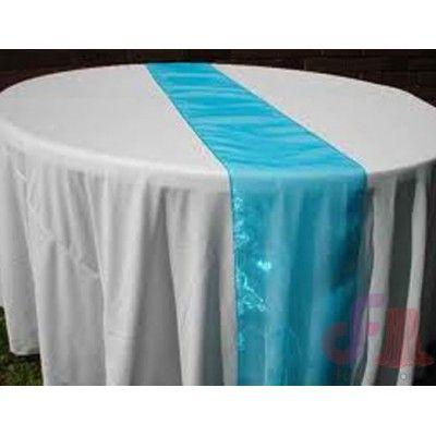 Organza Sky Blue Wedding Tablerunners
