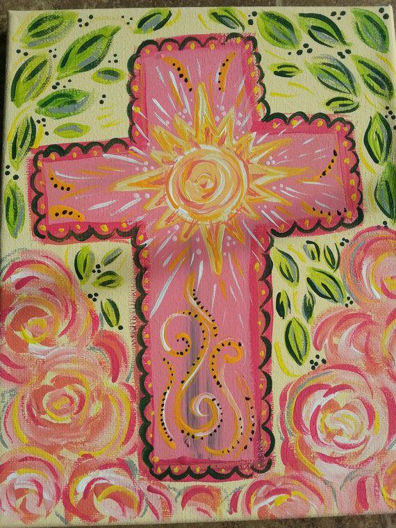 Yellow Sun Cross Painting