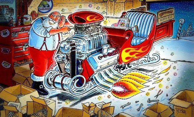Santa Gasser Rocketgarage Cafe Racer Magazine Revving Up For
