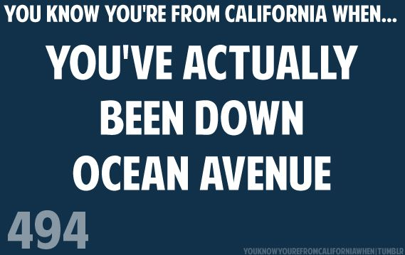 Theres a place off Ocean Avenue, where I used to sit and talk with you.  We were both sixteen and it felt so right - sleeping all day, staying up all ni-iiight!