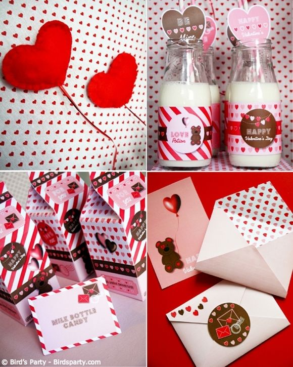 A Sweet Cookies Milk Valentine S Day Party Red Pinterest