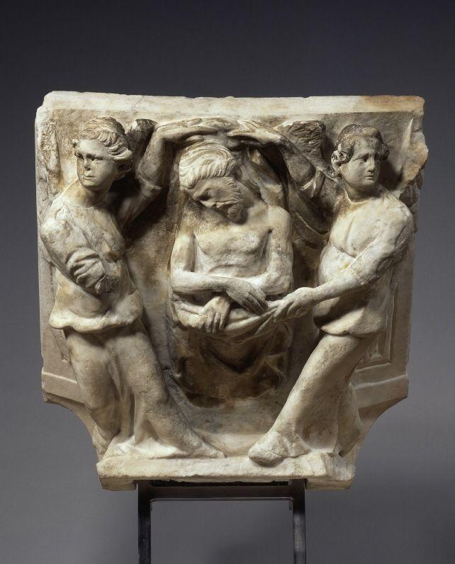 Engelpietà - 1300 | Giovanni Pisano (1245/1248 -  1314). Marble. © Foto: Skulpturensammlung und Museum für Byzantinische Kunst der Staatlichen Museen zu Berlin - Preußischer Kulturbesitz