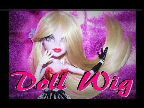 How to make a Wig for Dolls (no sewing)