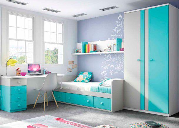 Dormitorio juvenil: Dormitorio infantil con compacto y armario ...