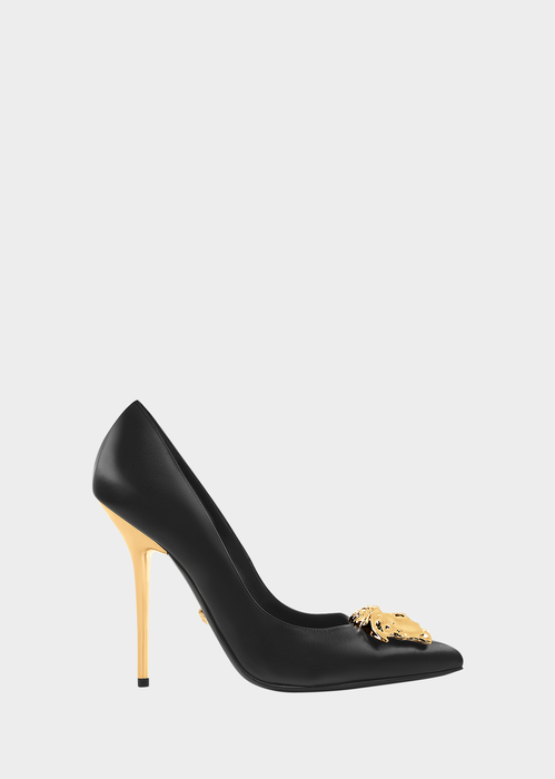 0f9b911c4229 stiletto pump with an iconic status. Highlighted by the Medusa plaque and  matching   heel