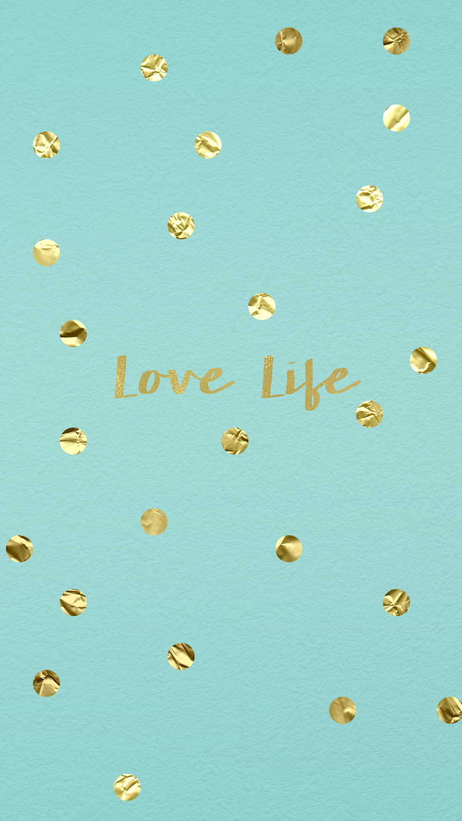 wallpaper, background, hd, iphone, gold, confetti, tiffany, blue, love, life | Happiness is ...
