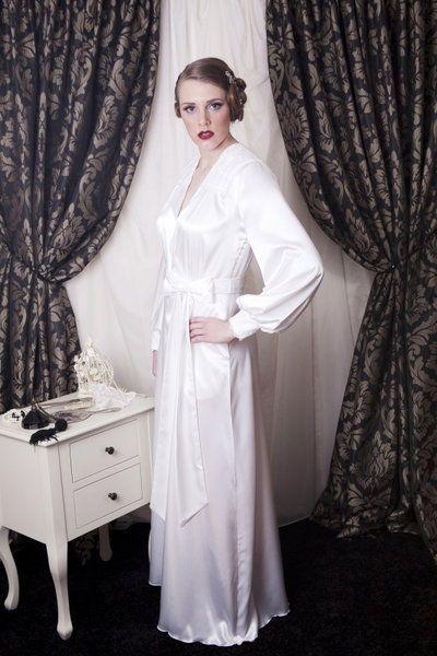 flirty thirtys floor length hollywood satin robe. mmmmmm | fashion