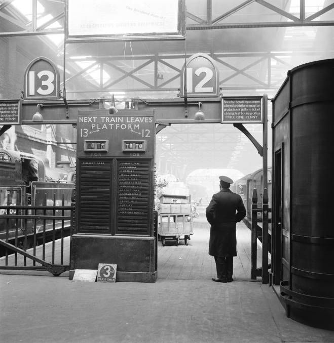 Kings Cross station, about 1958. I loved stations as a child...got the travel bug early! Loved the smokey trains and all.