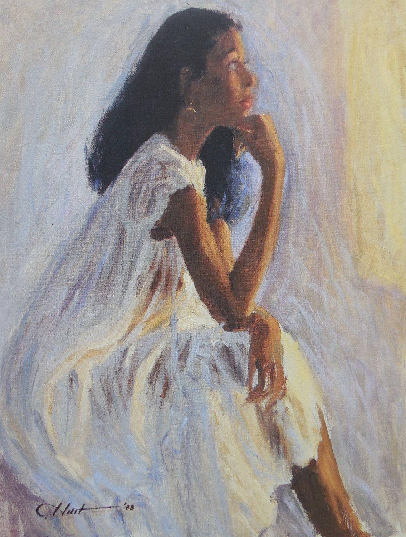 First Light By Holston African American Fine Art Print 6x7 In 2020 American Fine Art Black Art Afrocentric Art