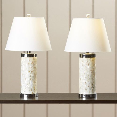 """Found it at Wayfair - Kendale Lakes 28.5"""" Table Lamp with the Drum Shade"""