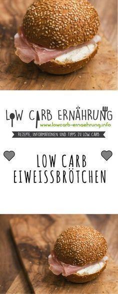 Low Carb Rezept für leckere kohlenhydratarme Eiweißbrötchen. Low Carb und einfach und schnell zum Nachbacken. Perfekt zum Abnehmen.