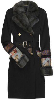 71e700d0f0e ShopStyle: Matthew Williamson Wool patchwork coat   DEsign ...