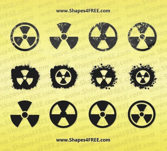 free shapes 12 grunge radiation symbol vector shapes protein rh pinterest com Hulk Radiation Symbol Standard Radiation Symbol