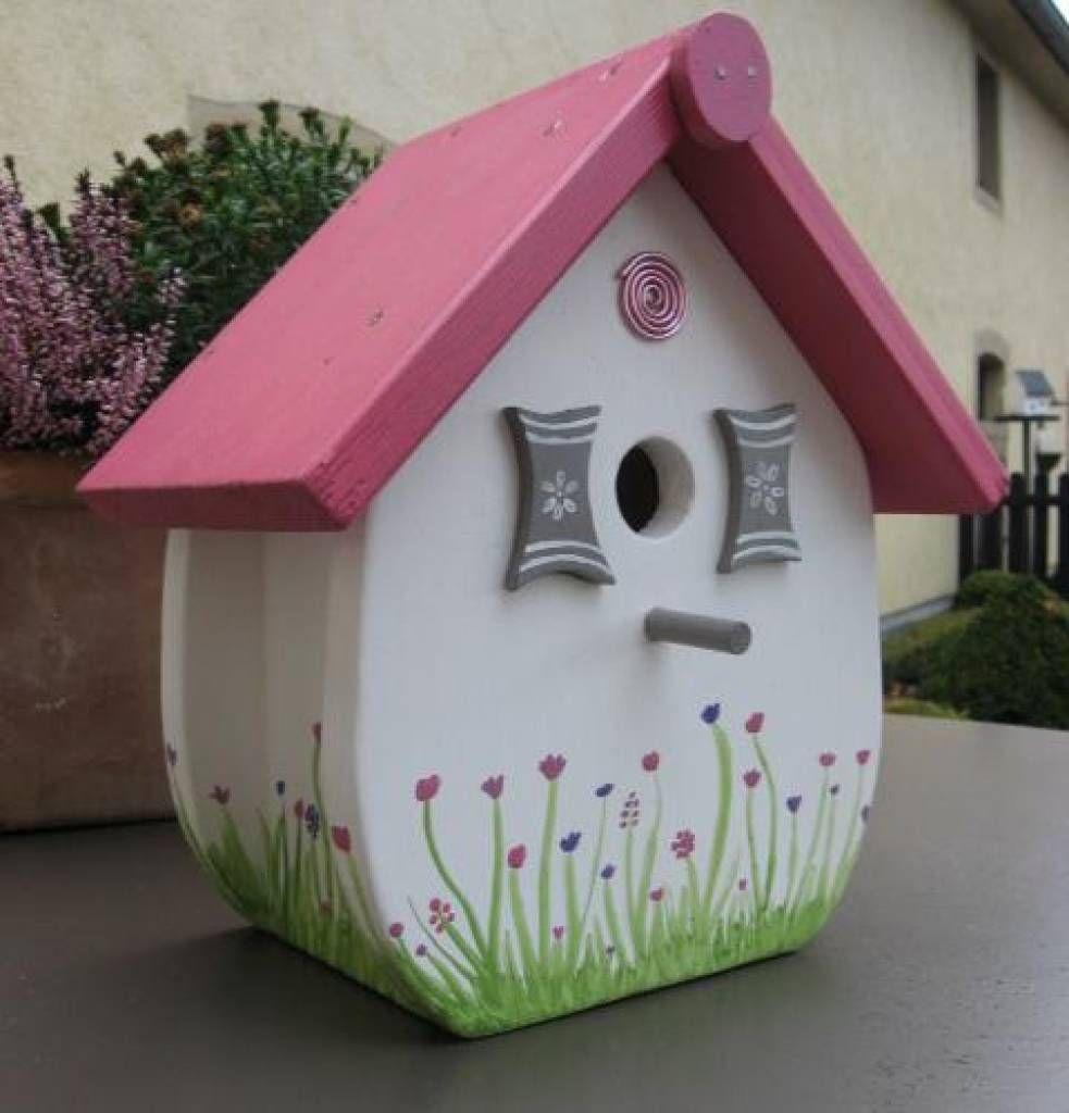Vogelhuis Zo Zoet Mit Bildern Vogelhauschen Vogelhaus Bemalen Haus Aussen
