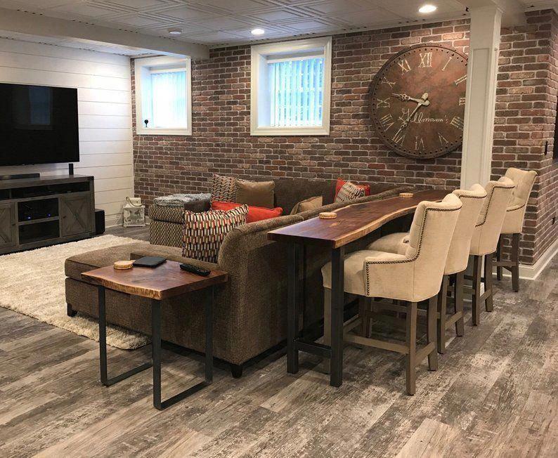 Basement Finishing Ideas in 2020 Home bar table