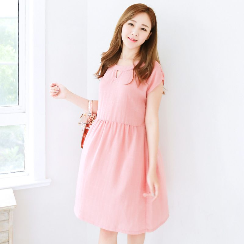 2016 pregnant women costume summer Korean version cotton flax coat Short sleeved loose for maternity clothing YZN 7002-in Dresses from Mother & Kids on Aliexpress.com | Alibaba Group