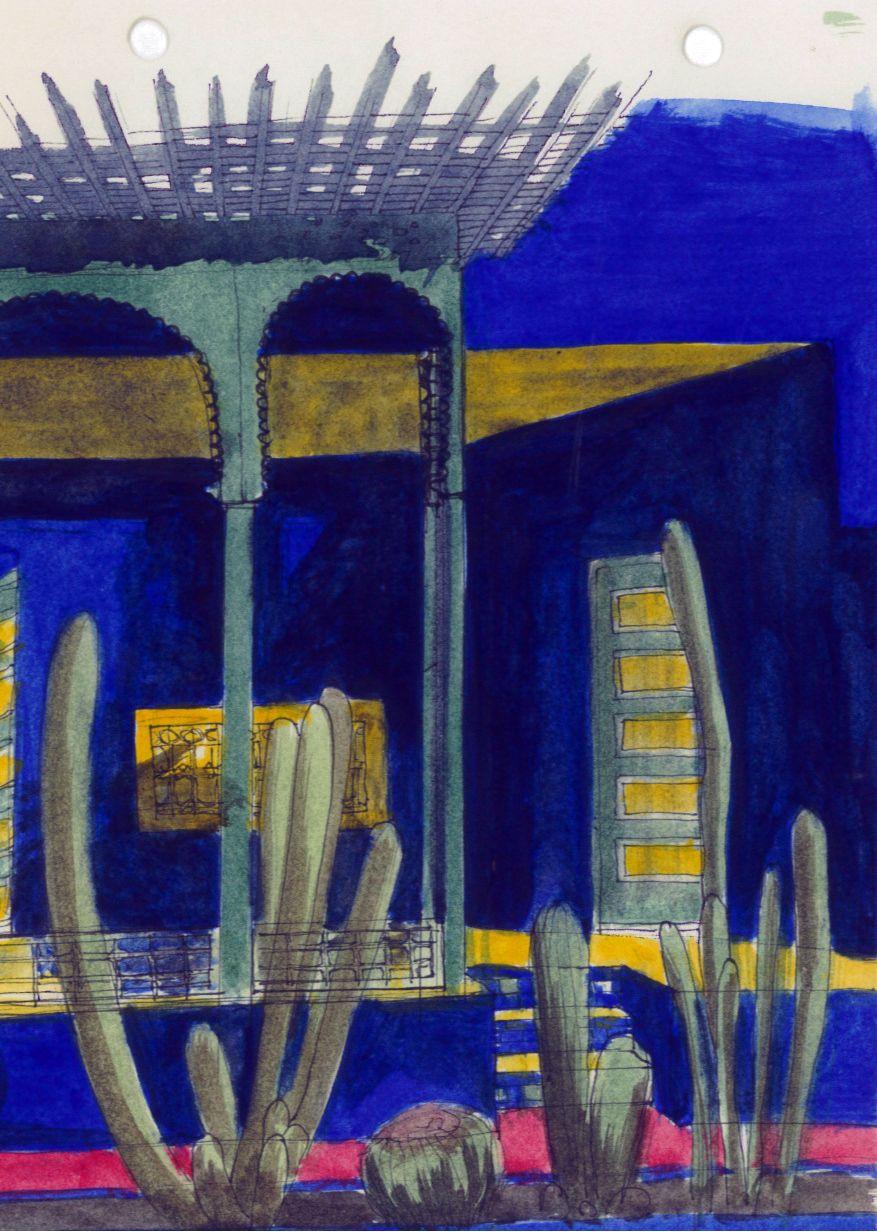 Carnet De Voyage Maroc Marrackech Jardin Majorelle Bleu