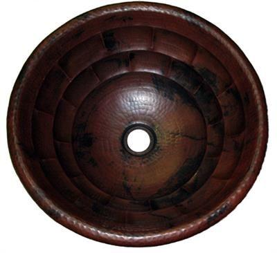 Copper Round Tortoise 15 inch Sink | Bathroom Sinks ...