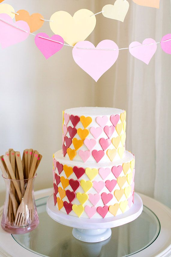 Heart first birthday cake 100 Layer Cakelet Cakelet Kid