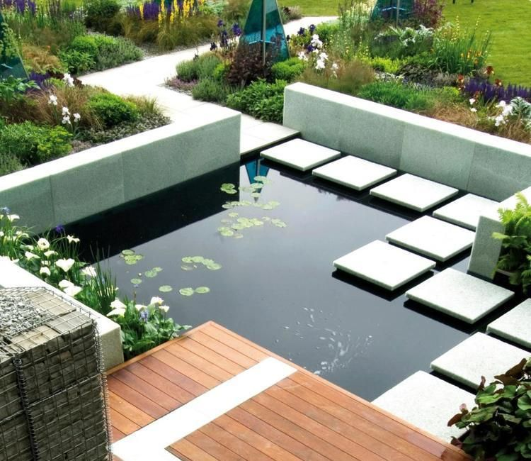 Gartenteich anlegen - was müssen Sie dabei beachten Garten - terrassengestaltung mit wasserbecken