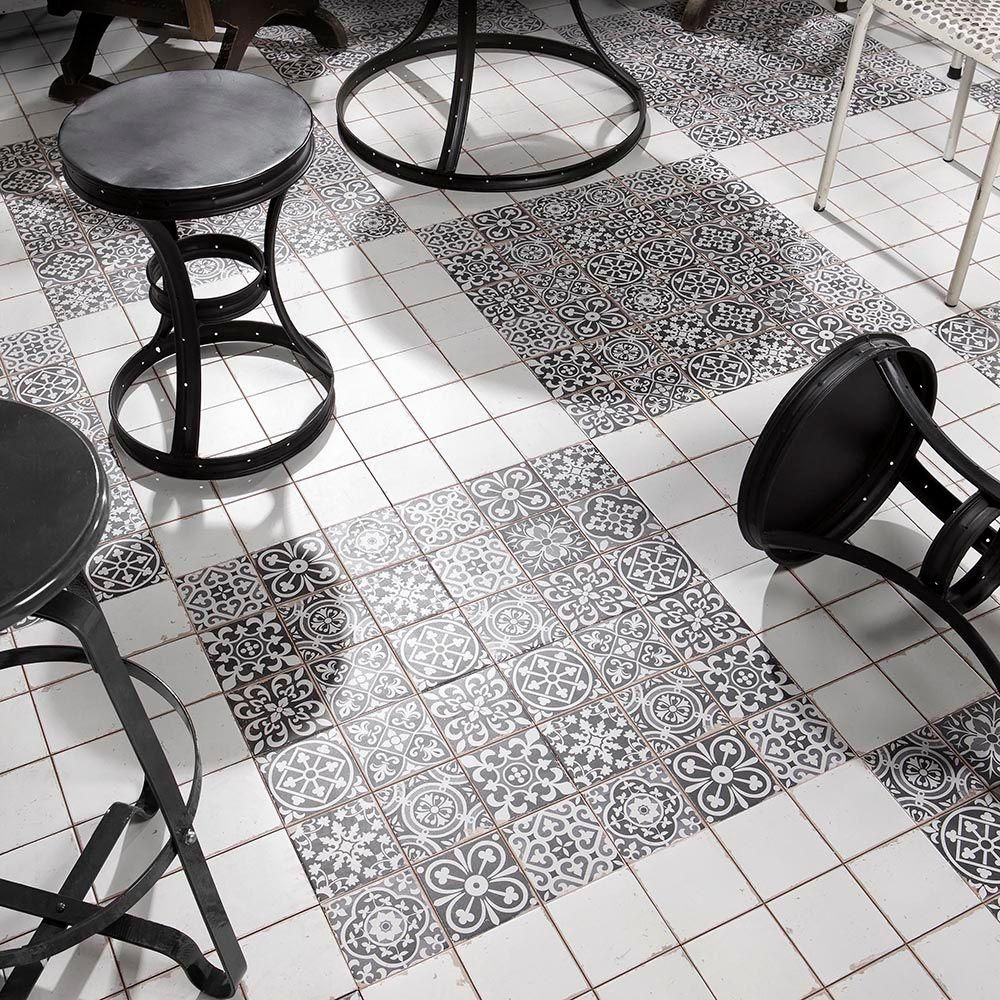 Merola Tile Faenza Nero 13 in. x 13 in. Ceramic Floor and Wall Tile ...