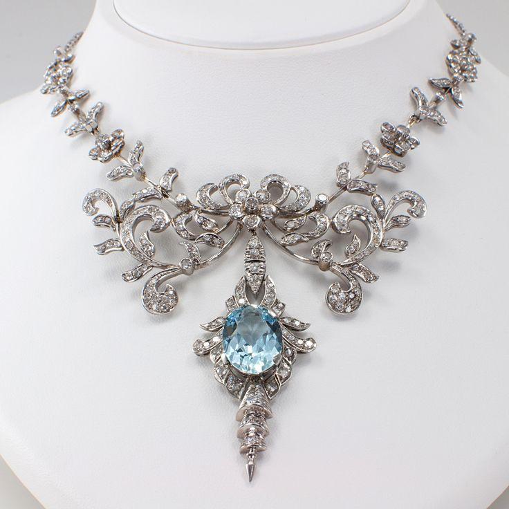 15 Designs Of Amazing Diamond Necklaces   Aquamarines, Diamond and ...