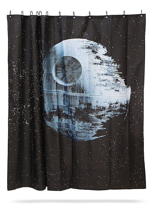 STAR WARS Death Star Fabric Shower Curtain 12 Hooks Set