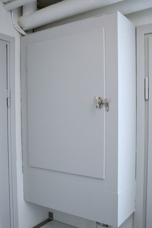 Fuse box door | Fuse box, Tall cabinet storage, Small hallways