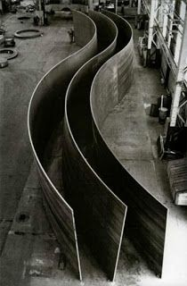 Edge Of The Plank Richard Serra Sheet Metal Installation Richard Serra Serra Sculpture Art
