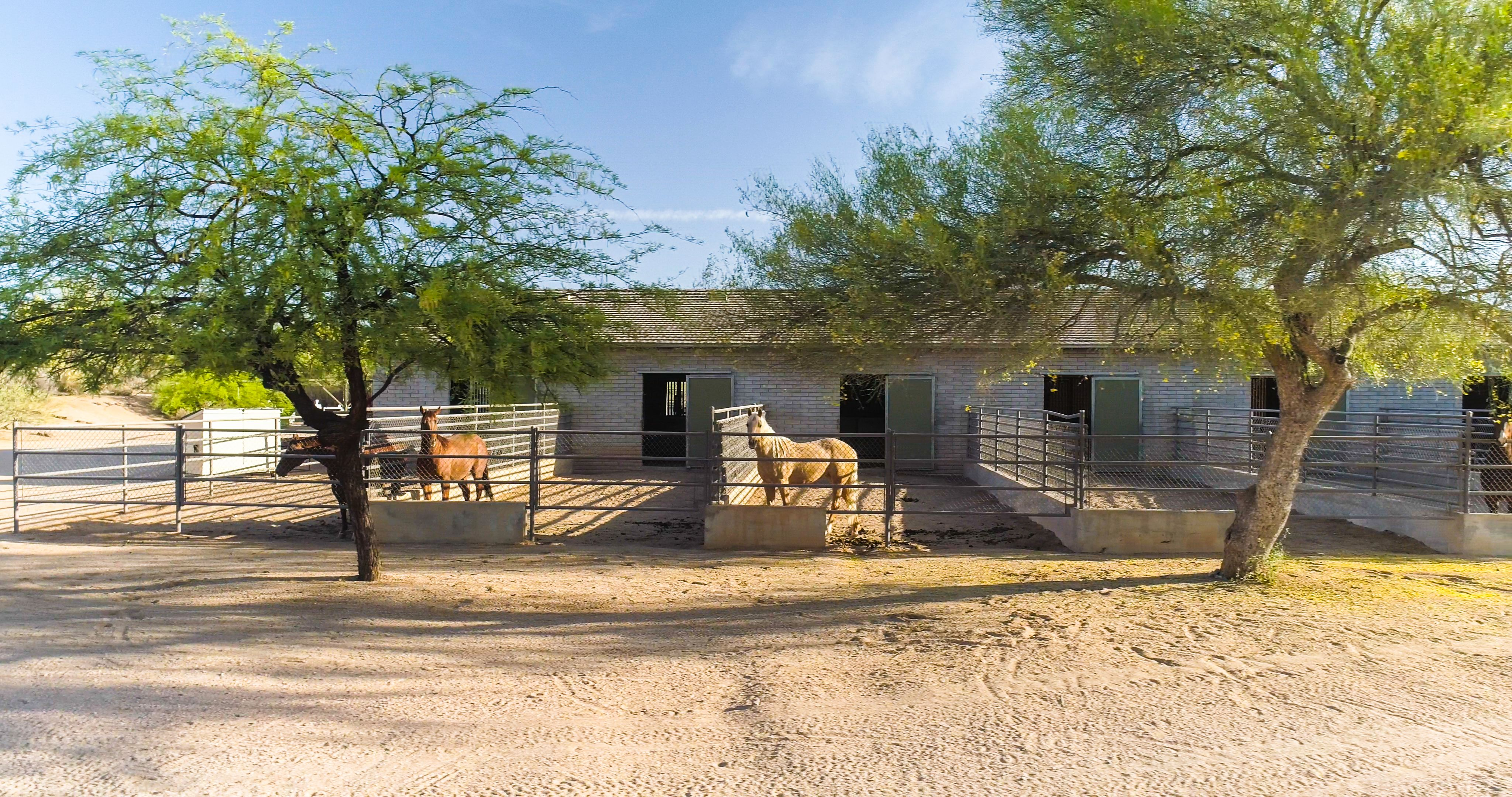 Immerse yourself in western ranch style living under the