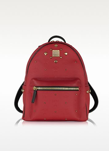 1a766e9f48785 MCM Stark Small Red Odeon Backpack.  mcm  bags  leather  lining  canvas   backpacks