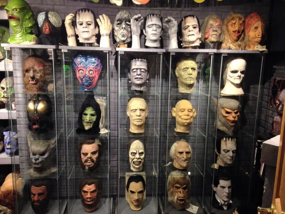 A look into the Crimson Ghost Mask Room, owned by Rudy Munis