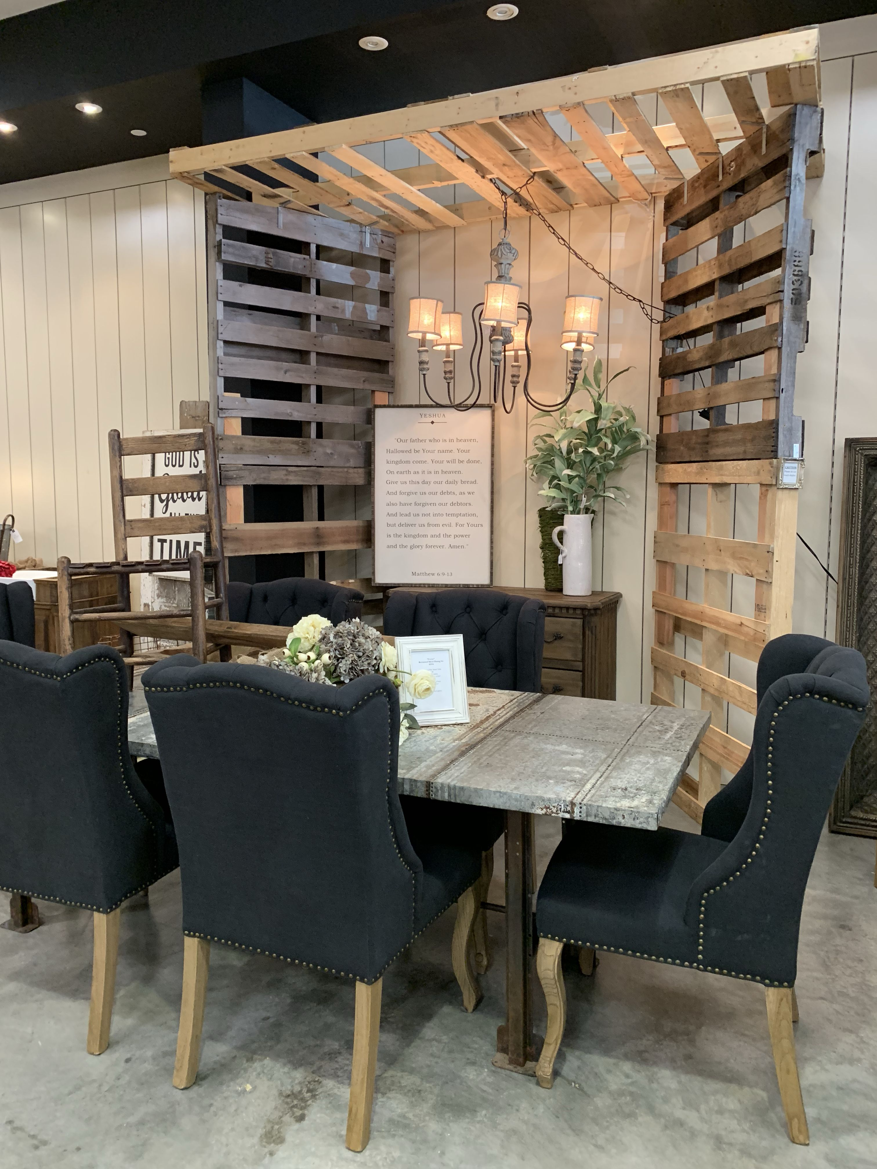 Farmhouse industrial dining set industrial dining sets