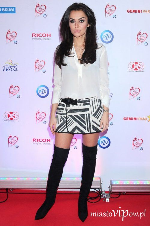 Natalia Siwiec Gala Drugie Zycie Fashion Knee Boots Over Knee Boot