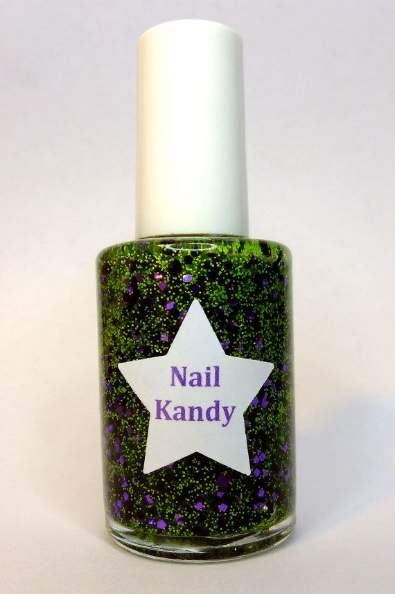 Nail Polish Creep Glitter UV Black Light Halloween by ...
