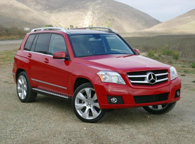2010 Mercedes Benz Red Glk Cuv Picture