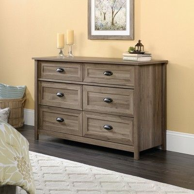 Best County Line Dresser Salt Oak Finish Sauder With Images 400 x 300