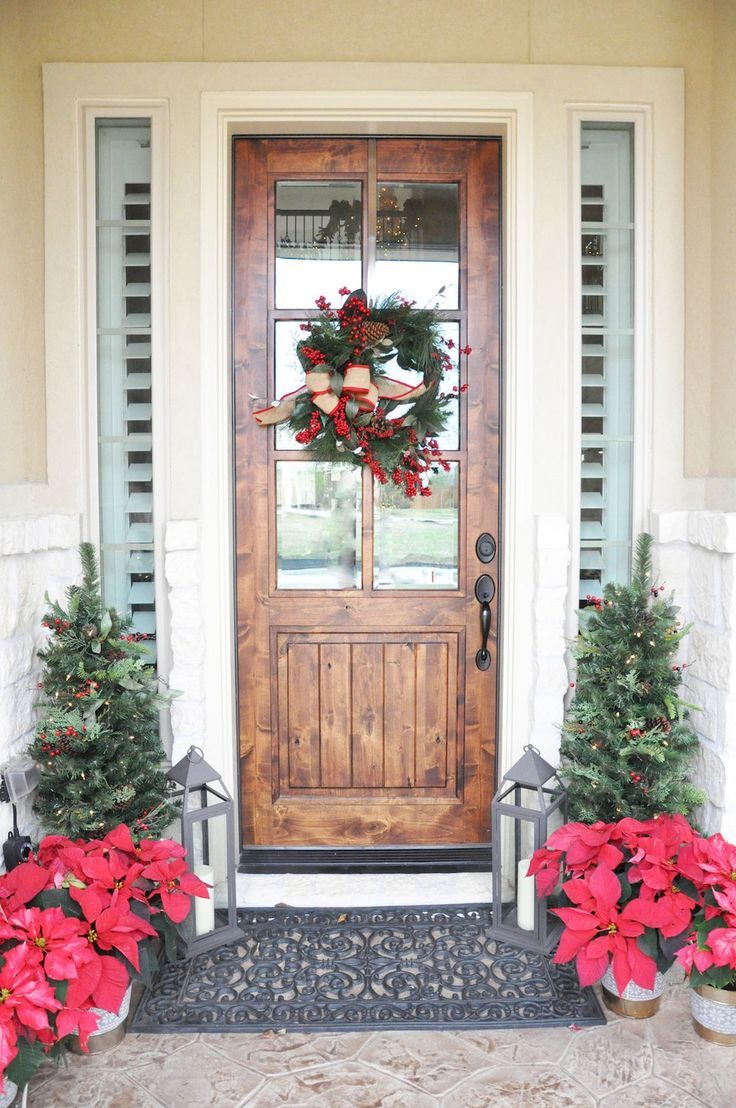 50 christmas front porch decor ideas and remodel rebeccas country christmas decorating pinterest christmas christmas home and christmas 2016 - Christmas Front Porch Decorations Pinterest