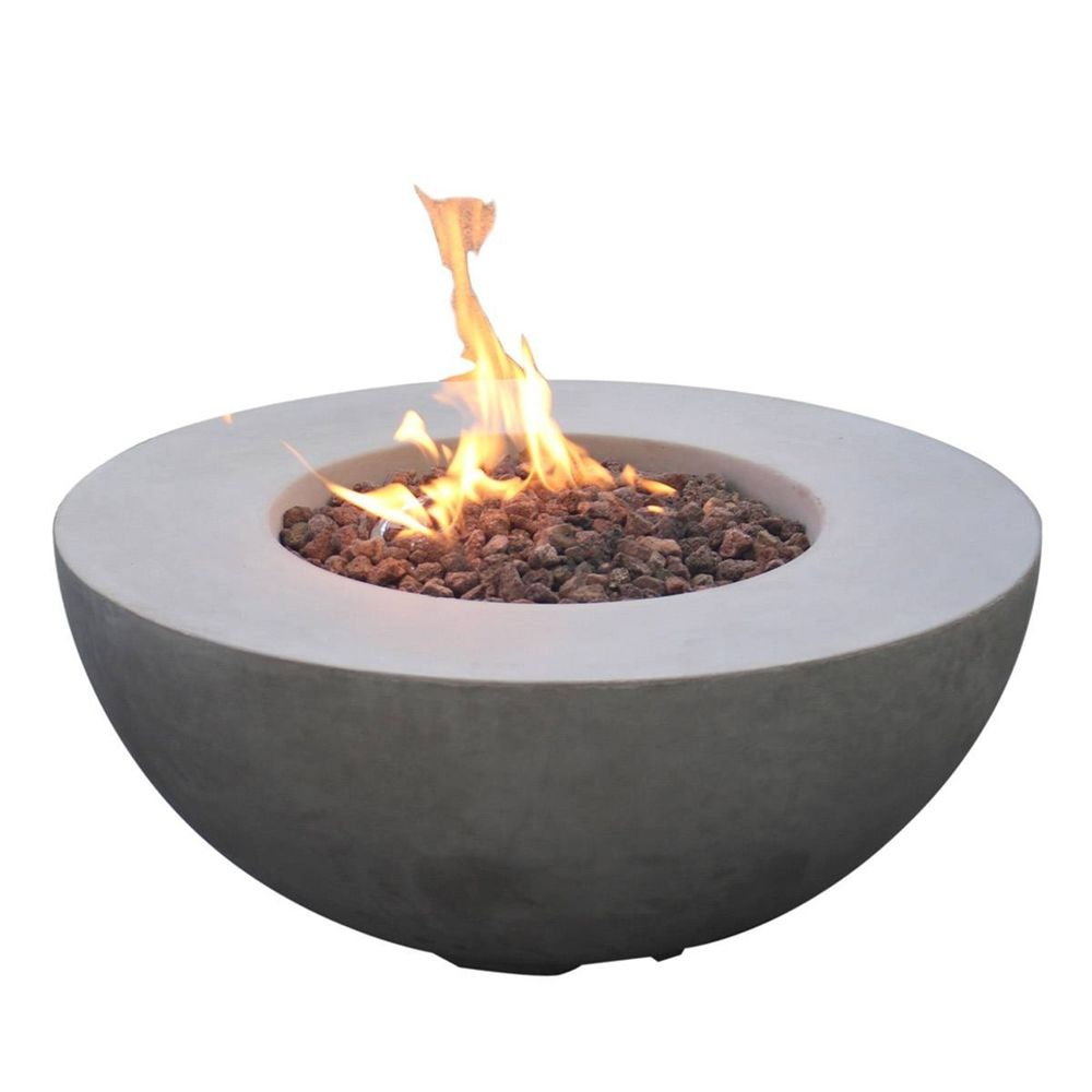 Shop Modeno OFG107 Roca 40,000 BTU Round Liquid Propane Gas Fire ...