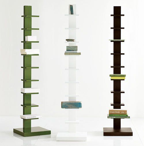 Roundup: Vertical Spine Bookcases - This is a great option for utilizing  wall space as
