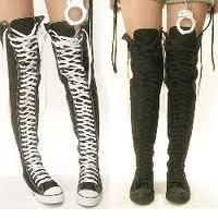 abbec45a7605 I found  Thigh High Converse  on Wish
