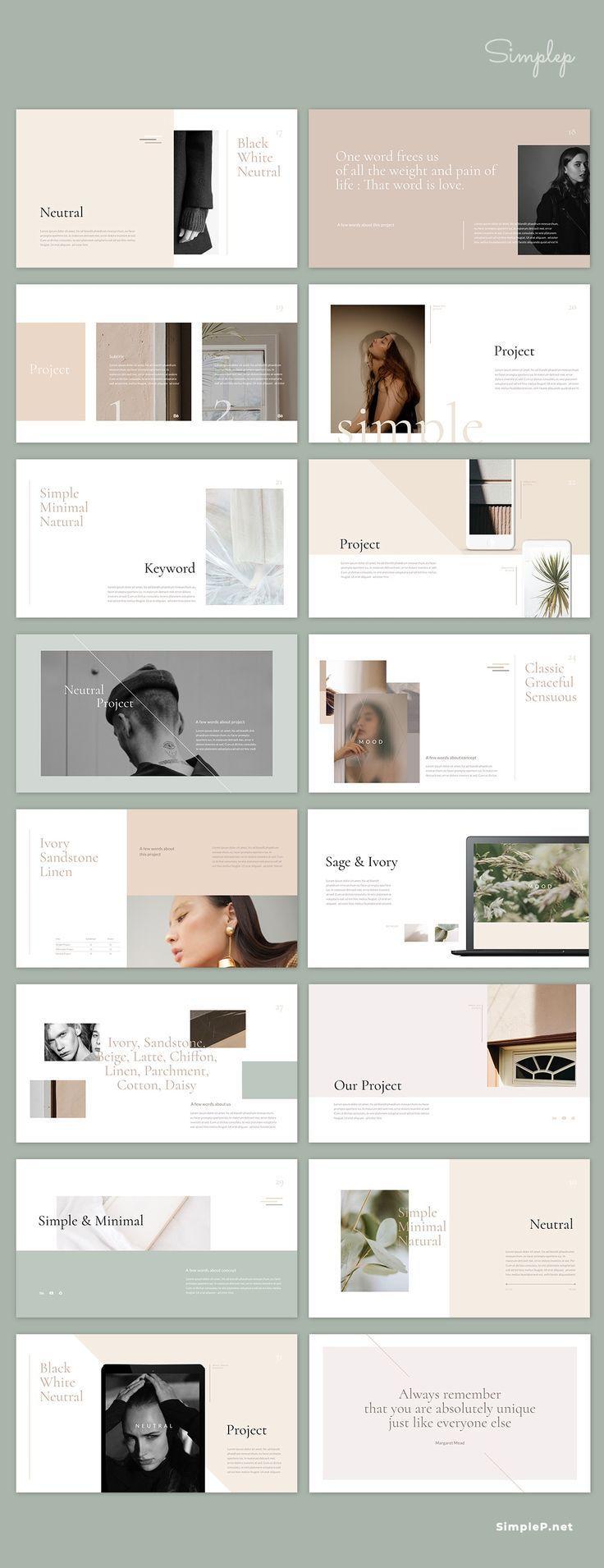 Einfaches und minimalistisches Layout: Neutrale